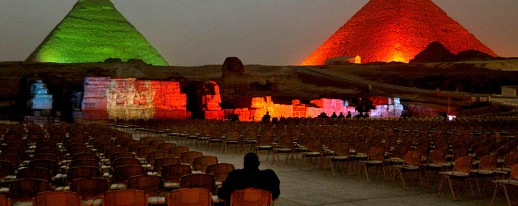 Pyramids Sound light show